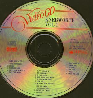 Knebworth Video Cd