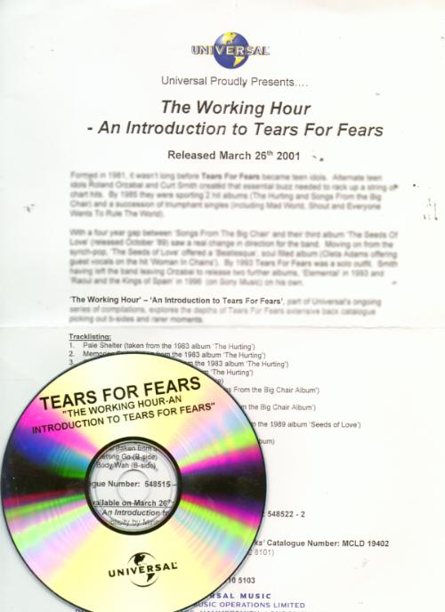 The Working Hour: An Introduction To TFF promo cd